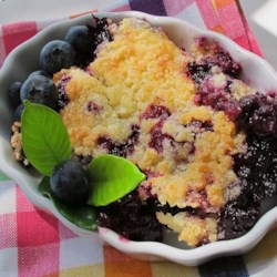 Easy blueberry pear cobbler recipe