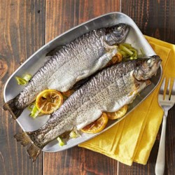 Grilled Whole Trout Foil Packets Recipe - Whole trout are grilled in foil packets with lemon and fresh dill.