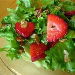 Nutty Strawberry Salad Recipe - This is a sweet tasting salad that is perfect for spring and summer outings.