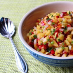 Chef John's Nectarine Salsa Recipe - Chef John pairs sweet with heat in this quick nectarine salsa with red bell peppers, jalapeno peppers, and cilantro.