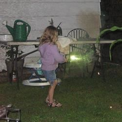 Grandaughter Bailey, with sparkler