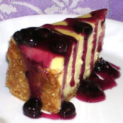 White Chocolate Blueberry Cheesecake Recipe - What could be better? White chocolate, cheesecake and blueberry topping!