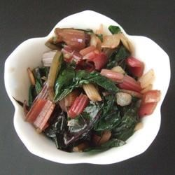 Sweet and Spicy Swiss Chard Recipe - This super-fast recipe is mildly sweet with a gingery bite.