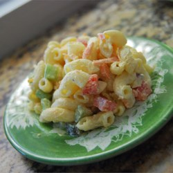 Macaroni Salad Recipe - You can double or triple this recipe and make enough for a crowd of hungry friends. The creamy mayonnaise dressing has sour cream, sweet pickle juice and mustard stirred in.
