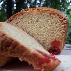 Cherry Bread Recipe - This bread's amazing flavor comes from cherry juice and maraschino cherries.