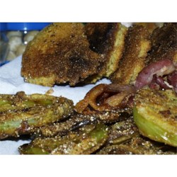 Fried Green Tomatotes leftover panpuppies