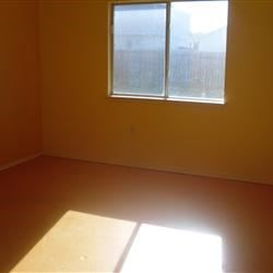 Master Bedroom-Yes, it's orange...no kidding. I will be turning it a lovely couple shades of blue.