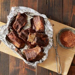 Grilled BBQ Short Ribs with Dry Rub Recipe - Foil packets make these ribs fall-off-the-bone tender and keep all the savory flavor inside.