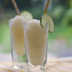 Wine Slushies (With Ice Cream Maker) Recipe - Wine is combined with sugar and lime juice in an ice cream maker, creating boozy wine slushies for summertime barbeques.