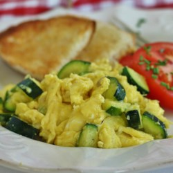 Zucchini with Egg Recipe - Sauteed zucchini is cooked with scrambled eggs for a quick and easy breakfast, especially in the summer when zucchini are in season.