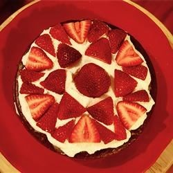 Chocoberry Torte Recipe - The flavors of strawberries and chocolate mingle together in this lovely dessert. This is an easy to make sweet torte. You may increase the amount of fruit to your liking. Raspberries or blueberries are awesome additions to this delicious torte.