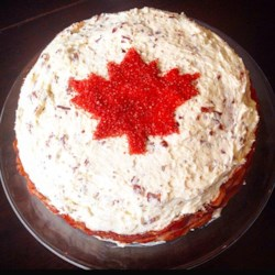 Oh Canada Maple Bacon Cake Recipe - This sweet and salty cake is dedicated to Canadians, with maple and bacon, two of Canada's favorite flavors.