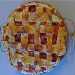 My Version of the Rhubarb and Strawberry Pie