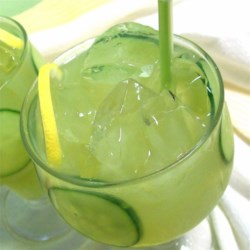 Refreshing Cucumber Lemonade Recipe - Homemade lemonade spiked with refreshing cucumber juice is a perfectly unique way to serve the summer tradition.