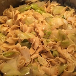 Slovak Haluski Recipe - Slovak haluski, a dish made with egg noodles, cabbage, and butter, is a hearty meal to make during Lent. Serve alongside fish.