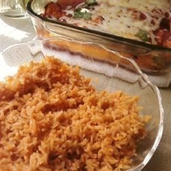 Whit's Enchiladas along with Mexican Rice II
