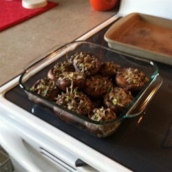 Megan's Marvelous Mushrooms Recipe - Easy stuffed mushrooms with a cheesy filling make a quick, savory appetizer.