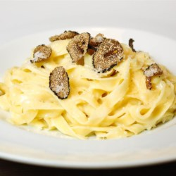 Fettuccine Alfredo III Recipe - Fresh fettuccine noodles are so delightful they need only to be quickly cooked and tossed with butter, Parmesan cheese and a dash of ground black pepper to make a scrumptious dish.