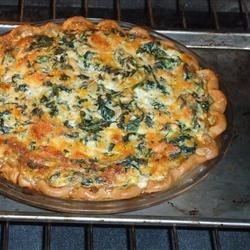 Eggless Tofu Spinach Quiche