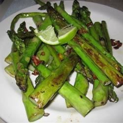 garlic asparagus with lime *