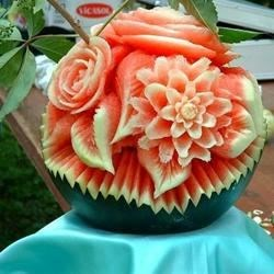 Amazing Carved Watermelon