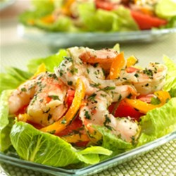 Margarita Shrimp Salad from Swanson(R) Recipe - Tired of the same old salad? Try this flavorful main dish salad that features tender shrimp flavored with lime and garlic...it's light, refreshing, and a great change of pace.