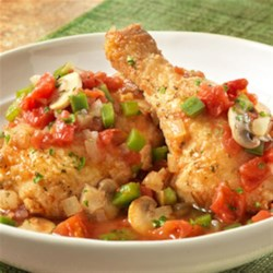 Chicken Cacciatore from Swanson(R) Recipe - Chicken Cacciatore gets even better when simmered in a Tuscan flavor infused broth. It adds fantastic flavor to an all-time favorite, and this dish pairs perfectly with your favorite pasta.
