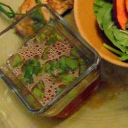 Raspberry Vinaigrette II Recipe - Easy fruit vinaigrette of raspberry vinegar and mint leaves.