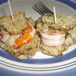 Shrimp-Stuffed Eggplant Rolls
