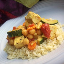 Moroccan Chicken Recipe - Spices, spices, spices! This recipe is thick with 'em, and your taste buds will be thick with pleasure from Moroccan Chicken. This exotic tasting dish is a definite crowd pleaser!