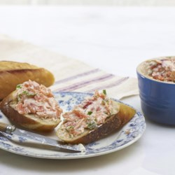 Salmon Terrine Recipe - Salmon, butter, Dijon mustard, and fresh tarragon are just some of what make this traditional French fare so delicious. Pair it with toasted baguette slices for an appetizer or eat as a salad.