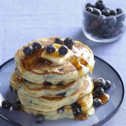 Todd's Famous Blueberry Pancakes Recipe - Simple but delicious blueberry pancakes. Fresh or frozen blueberries are equally good.