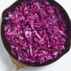 Chef John's Braised Red Cabbage Recipe - Red cabbage is cooked with wine, seasonings, and a pinch of caraway seeds for a pretty and versatile side dish.