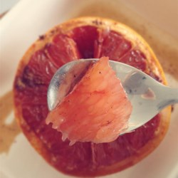 Broiled Spiced Grapefruit Recipe - Grapefruit is topped with cinnamon, nutmeg, and coconut sugar and broiled into a tasty breakfast starter or anytime-snack.