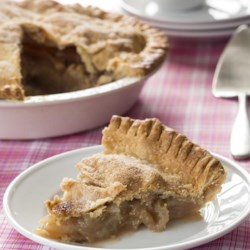 Verlys' Apple Pie Recipe - Use a prepared pie pastry to make this double-crust apple pie recipe with hints of cinnamon and butter to let the fruit shine through.