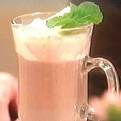 Peppermint Patty I Recipe - Hot chocolate is spiked up with peppermint schnapps. Great on the ski slopes or around the fire.