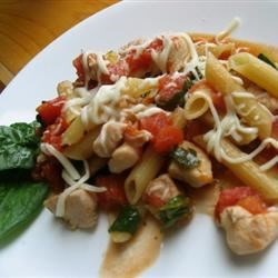 Italian Chicken Skillet Recipe and Video - A chicken and pasta supper with Italian flavors is so easy, because you cook the pasta right in the skillet. It's perfect for weeknights.