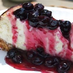 Chantal's New York Cheesecake w/ blueberry topping