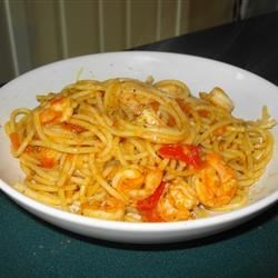 Wine Shrimp with Pasta
