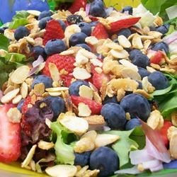 Spinach-And-Berries Salad With Non-Fat Curry Dressing