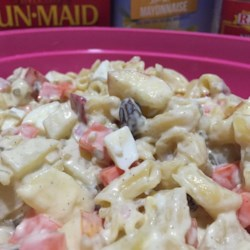 Filipino Chicken Salad Recipe - This chicken salad uses raisins, carrot, celery, pineapple, and apple to make a tasty dish for any event.