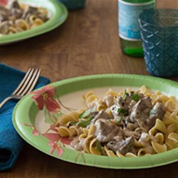 So Simple Beef Stroganoff Recipe - All you need are five basic pantry ingredients to make a comforting, creamy beef Stroganoff in your slow cooker.