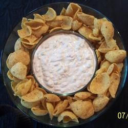 Ugly Dip Recipe - This recipe calls for canned vegetables with cream cheese, mayonnaise, and green onion.