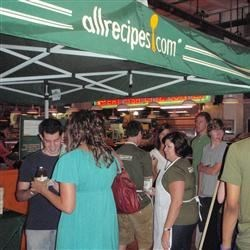 Market action at the Allrecipes booth!