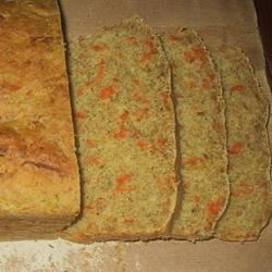 Carrot Thyme Bread Recipe - This is a savory rye loaf with thyme, cornmeal and lots of carrots.
