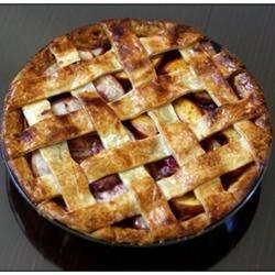 Half & half peach pie