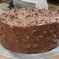 Chocolate Applesauce Cake II Recipe - You can get a moist chocolate cake with applesauce, sweetened condensed milk, and buttermilk baking mix using this recipe.