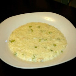 Chicken and Rice Soup I Recipe - In this creamy soup, rice cooked with celery and onion is added to a roux-thickened milk soup base with shredded chicken.