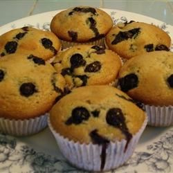 Sour Cream Muffins Recipe - Surprisingly tasty muffins with fresh fruit. Use any type of fresh berry or chopped fresh fruit for a delightful breakfast.