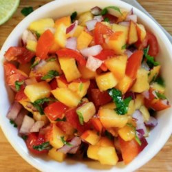 Nectarine Salsa Recipe - A tangy salsa, perfect for summer, and great on fish!